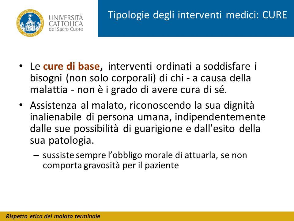 Tipologie degli interventi medici: CURE