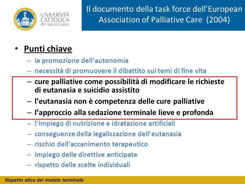 Il documento della task force dell'European Association of Palliative Care (2004)