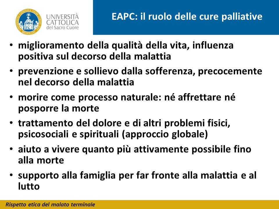 EAPC: il ruolo delle cure palliative
