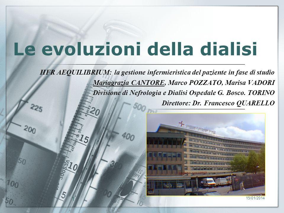 Le evoluzioni della dialisi
