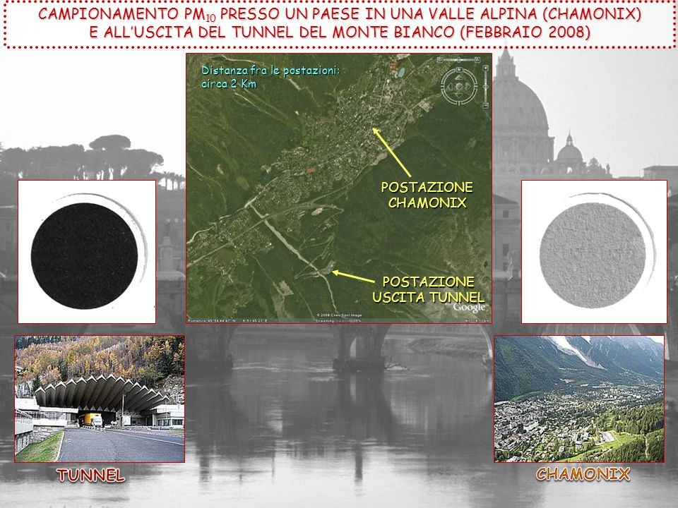 CAMPIONAMENTO PM10 PRESSO UN PAESE IN UNA VALLE ALPINA (CHAMONIX)