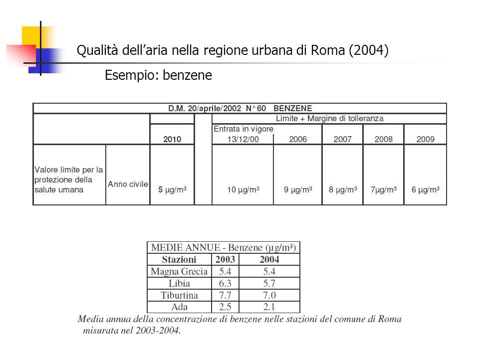 Qualità dell'aria nella regione urbana di Roma (2004)