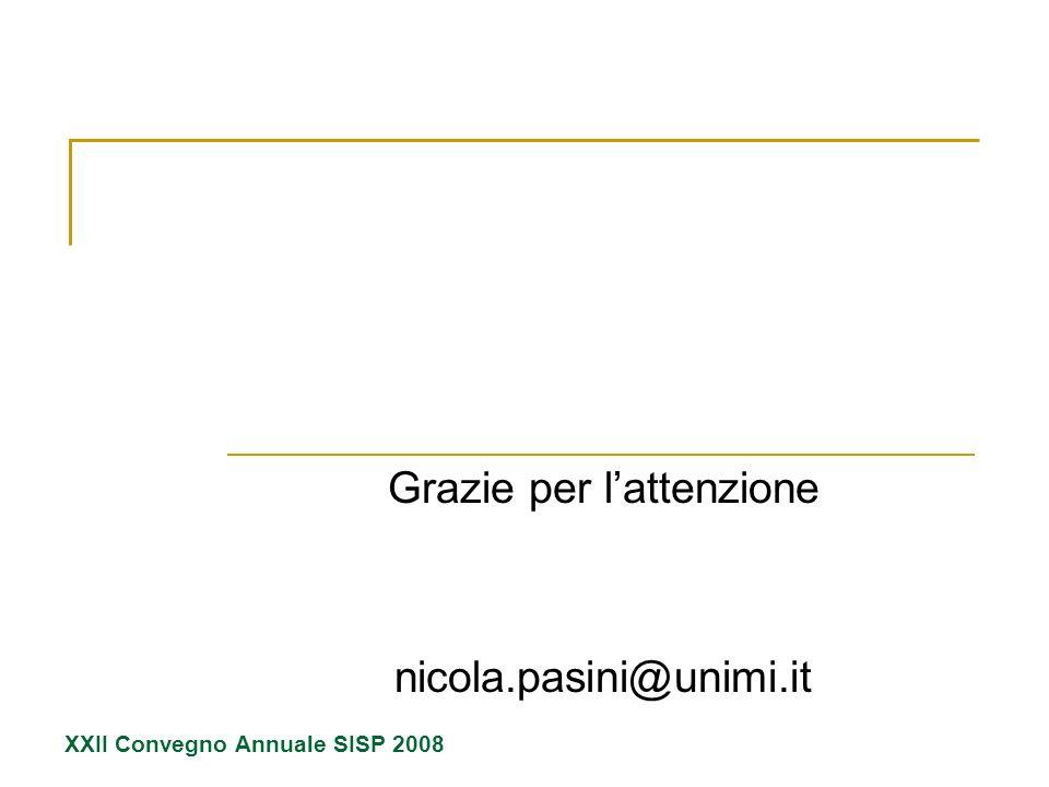 Grazie per l'attenzione nicola.pasini@unimi.it