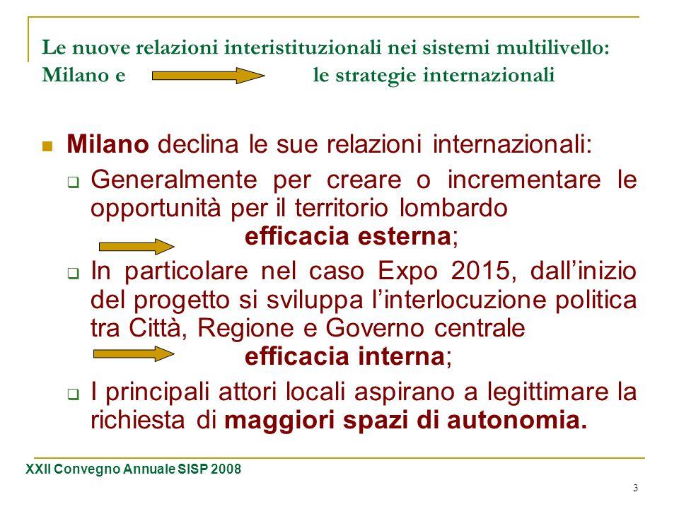 Milano declina le sue relazioni internazionali: