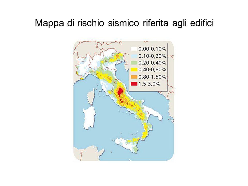 Mappa di rischio sismico riferita agli edifici
