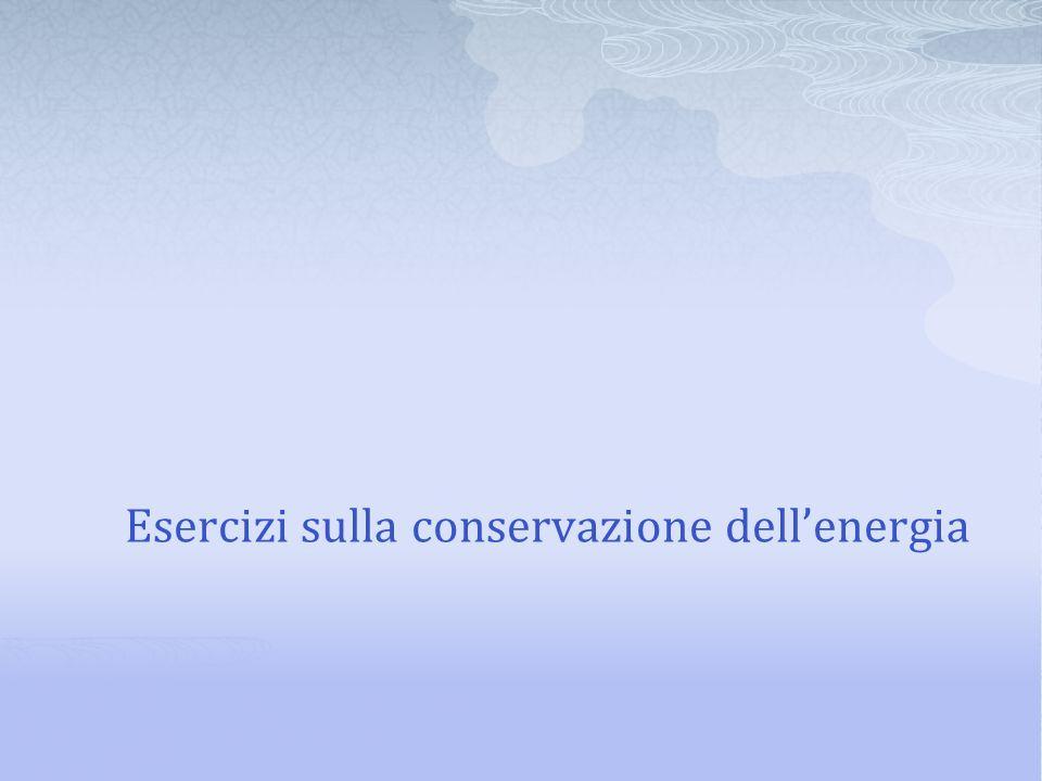 Esercizi sulla conservazione dell'energia
