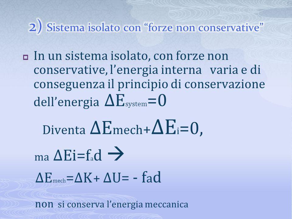 2) Sistema isolato con forze non conservative