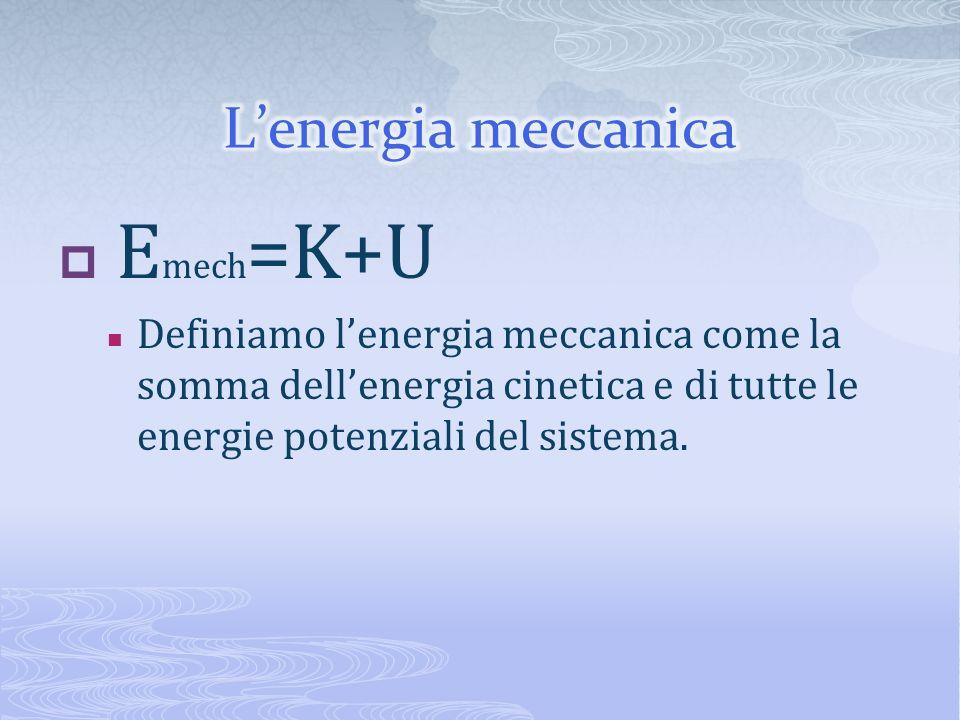 Emech=K+U L'energia meccanica