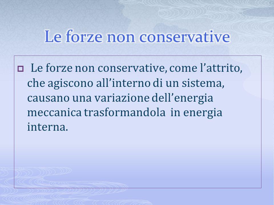 Le forze non conservative