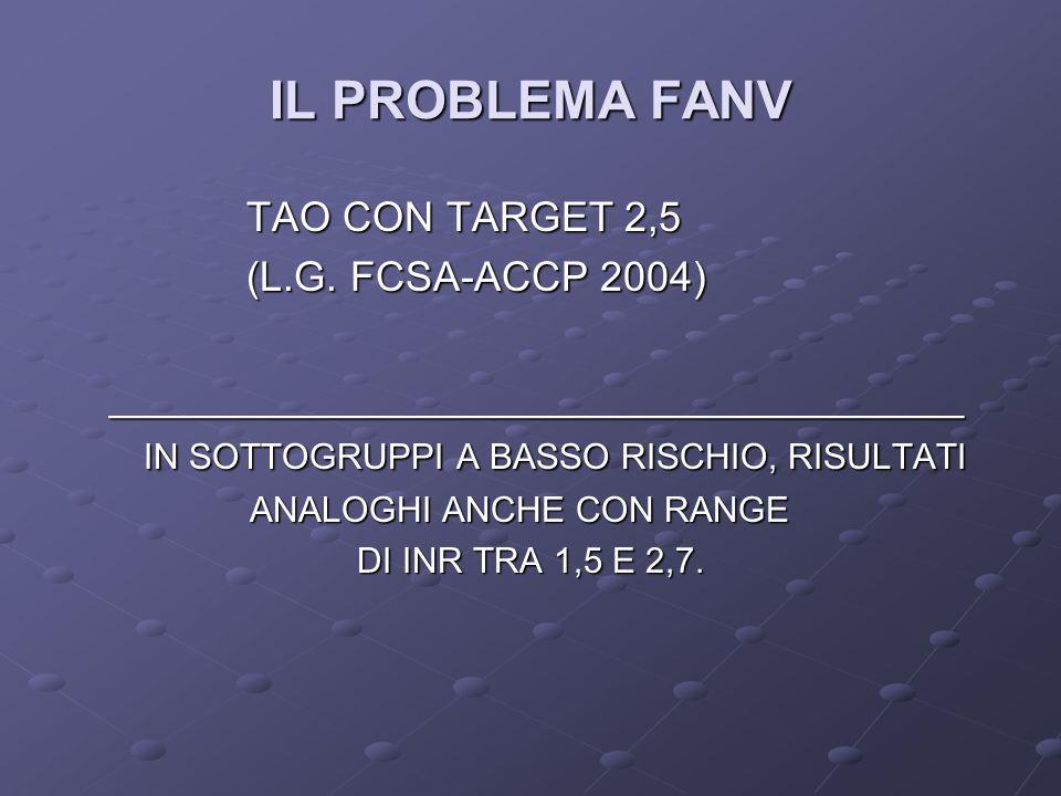 IL PROBLEMA FANV TAO CON TARGET 2,5 (L.G. FCSA-ACCP 2004)
