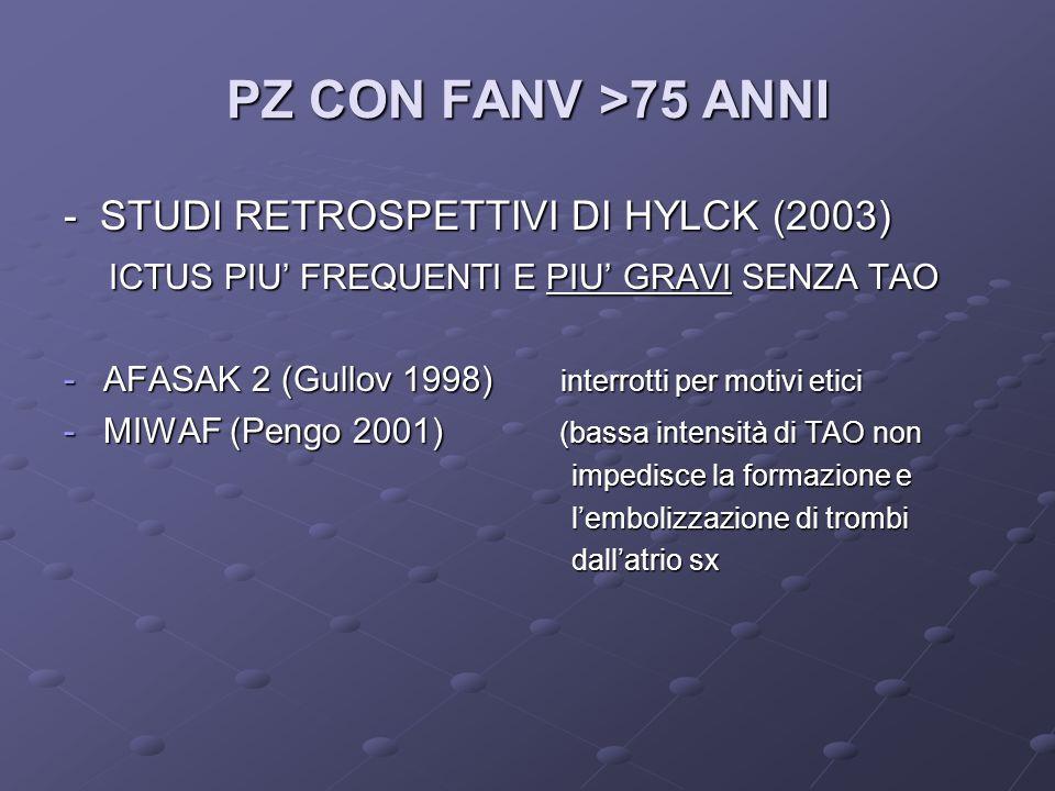 PZ CON FANV >75 ANNI - STUDI RETROSPETTIVI DI HYLCK (2003)