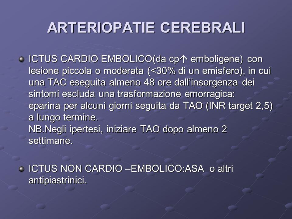 ARTERIOPATIE CEREBRALI