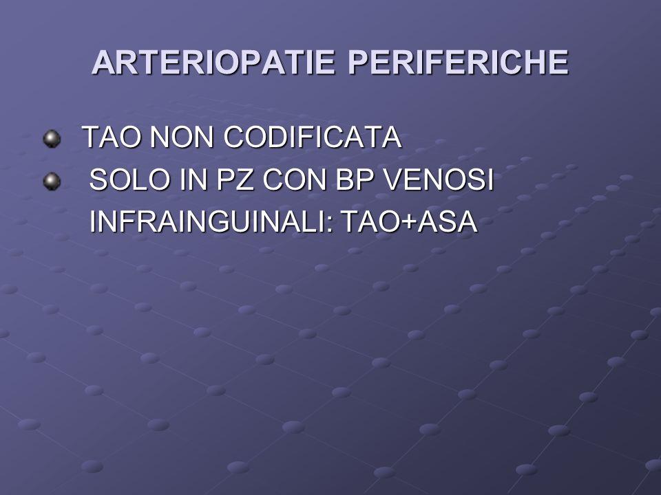 ARTERIOPATIE PERIFERICHE