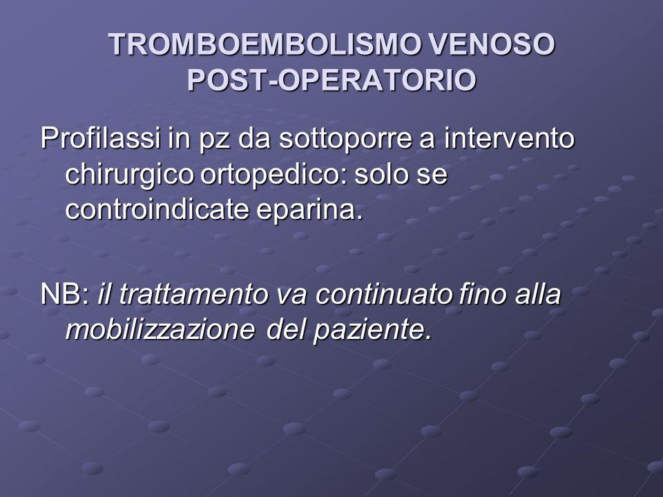 TROMBOEMBOLISMO VENOSO POST-OPERATORIO