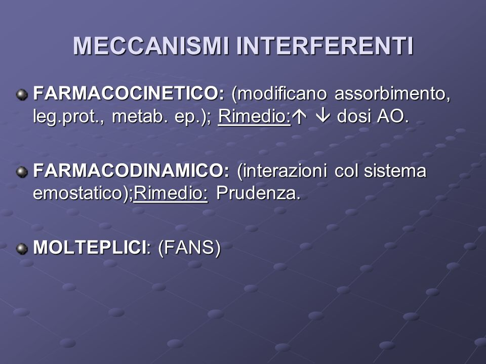 MECCANISMI INTERFERENTI