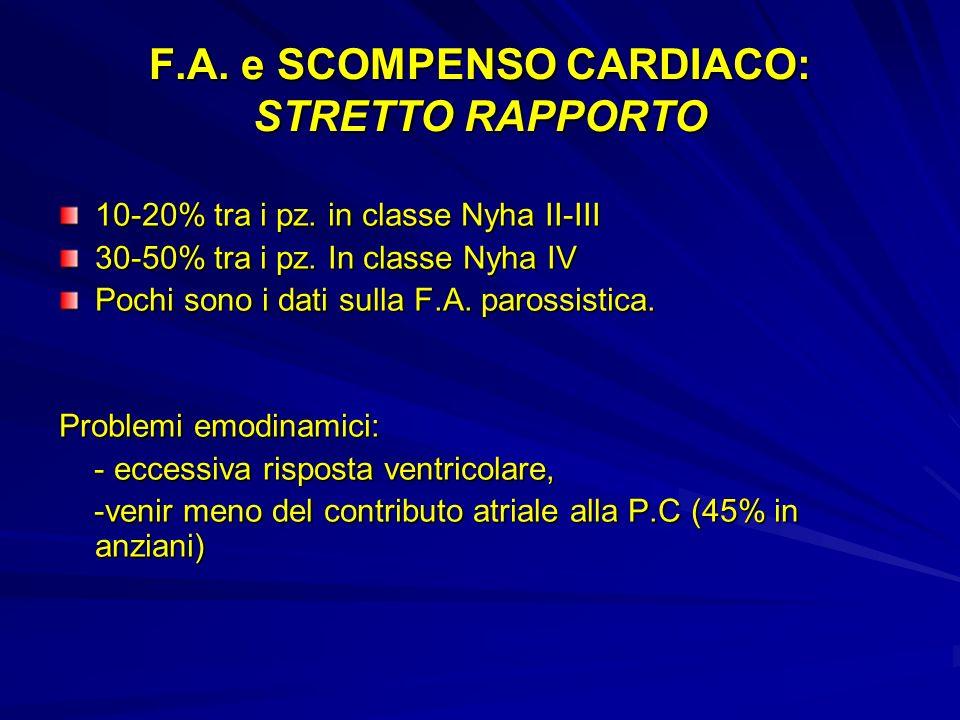 F.A. e SCOMPENSO CARDIACO: STRETTO RAPPORTO