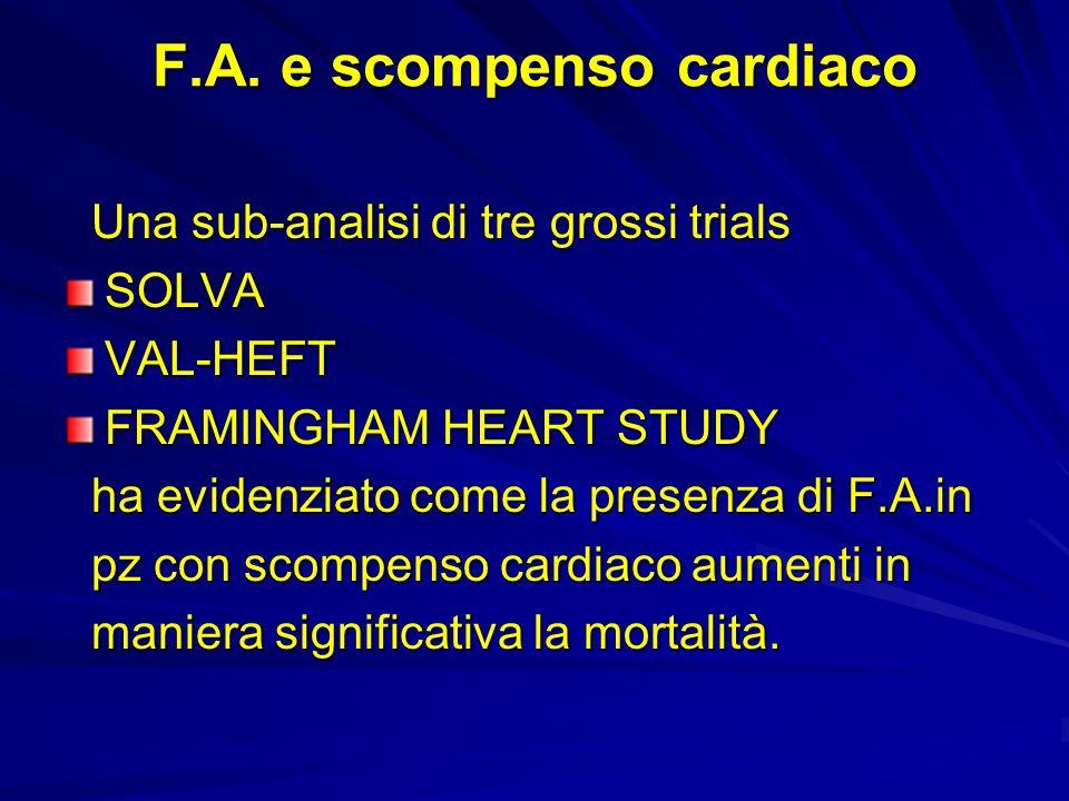 F.A. e scompenso cardiaco