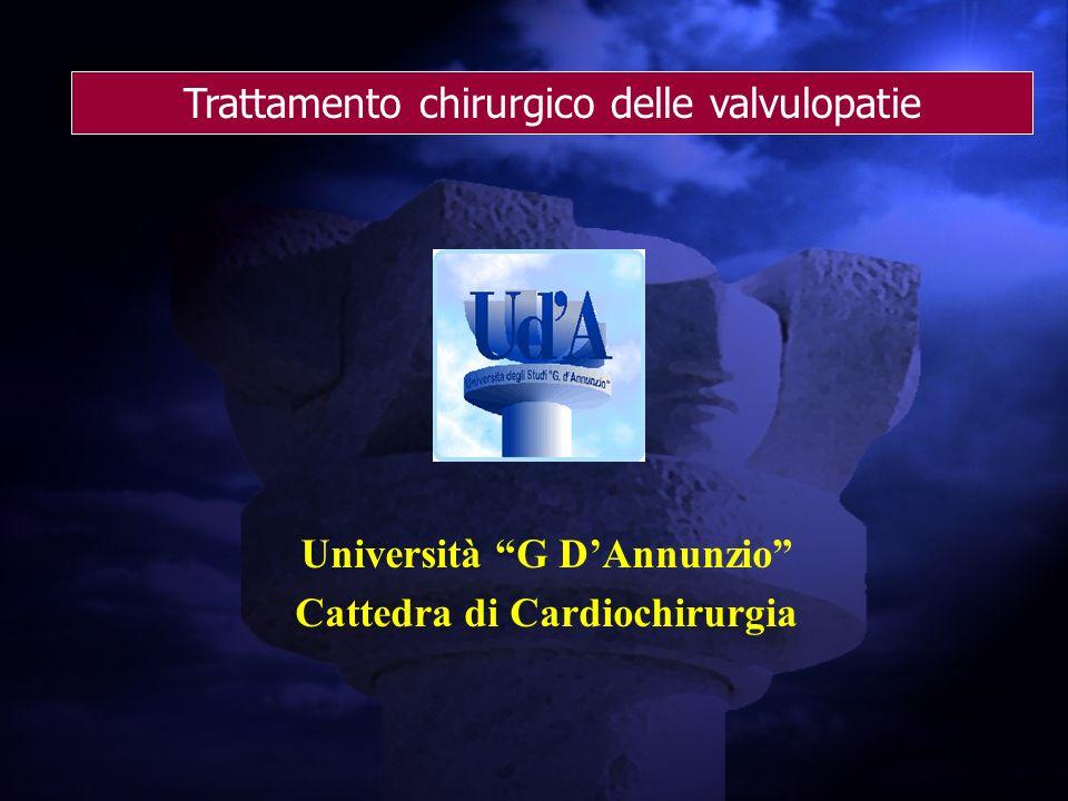 Università G D'Annunzio Cattedra di Cardiochirurgia