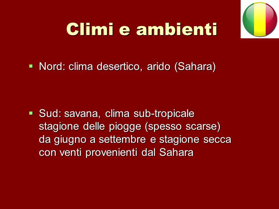Climi e ambienti Nord: clima desertico, arido (Sahara)