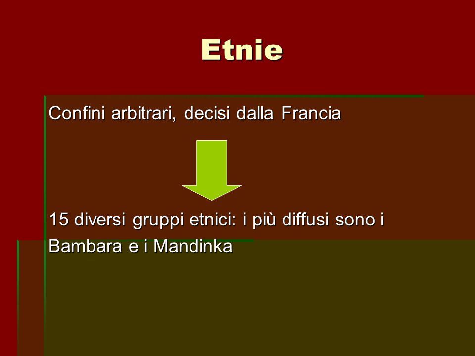 Etnie Confini arbitrari, decisi dalla Francia