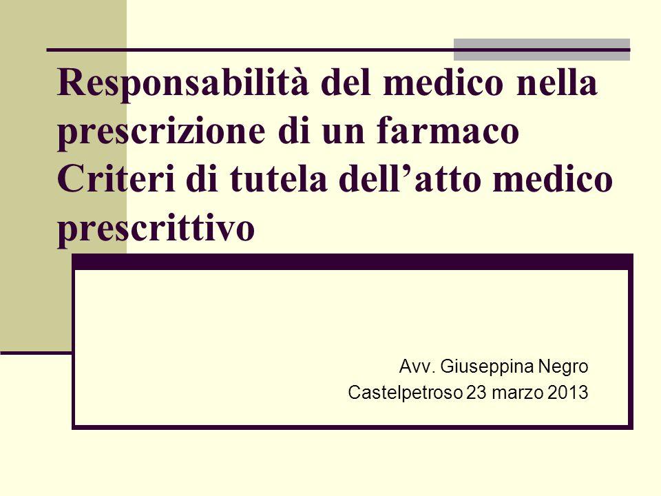 Avv. Giuseppina Negro Castelpetroso 23 marzo 2013
