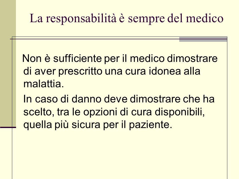 .La responsabilità è sempre del medico