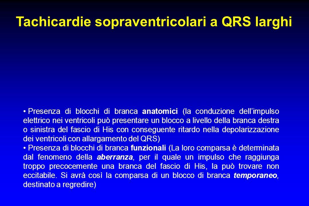 Tachicardie sopraventricolari a QRS larghi