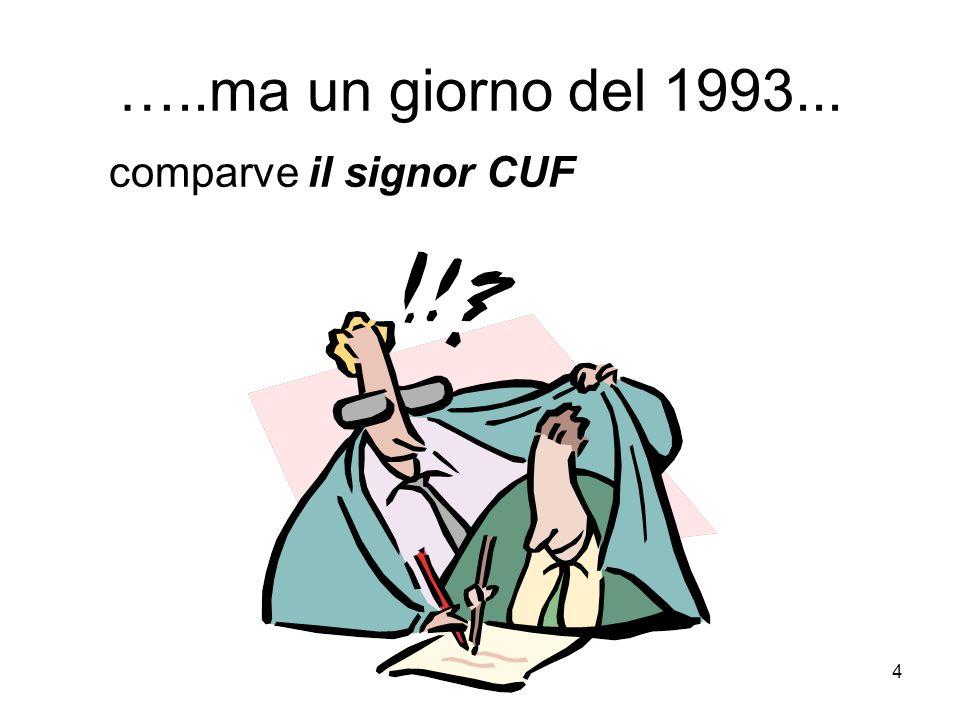 …..ma un giorno del 1993... comparve il signor CUF