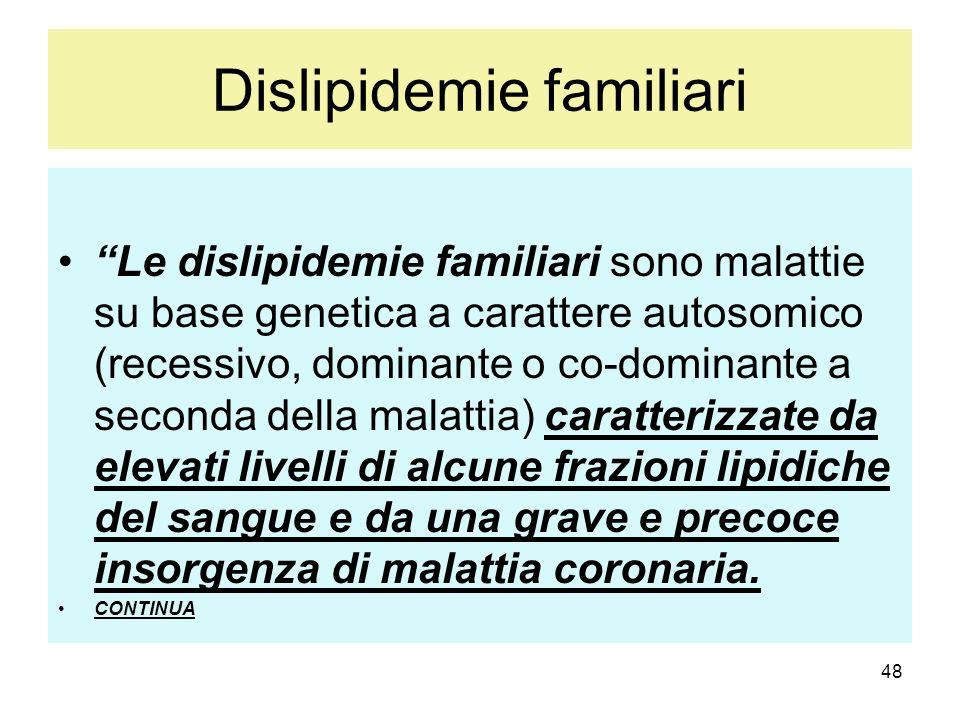 Dislipidemie familiari