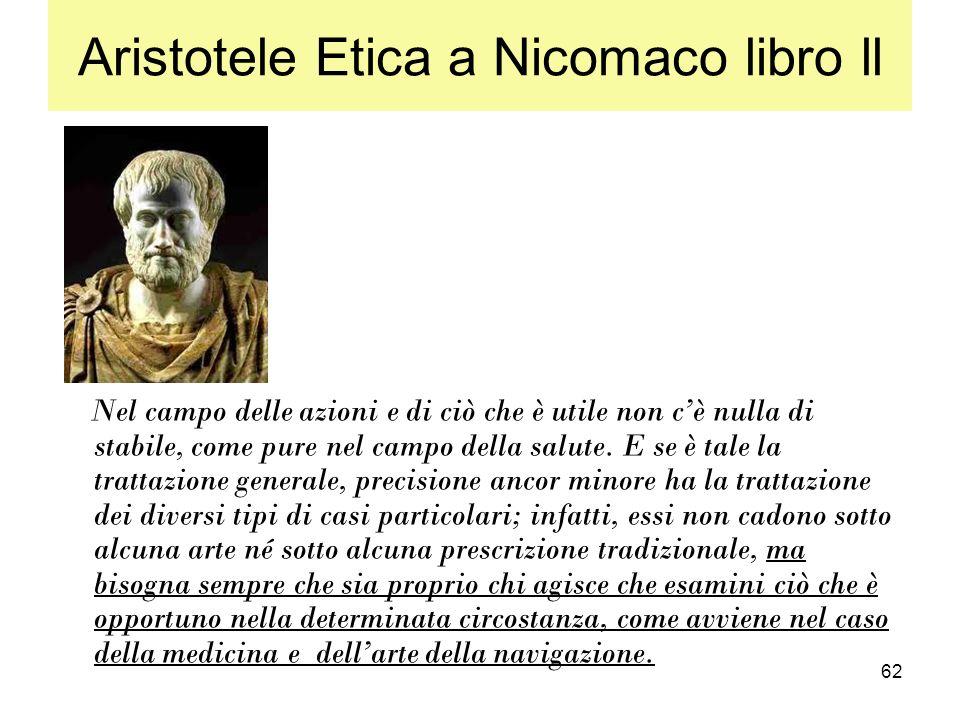 Aristotele Etica a Nicomaco libro ll
