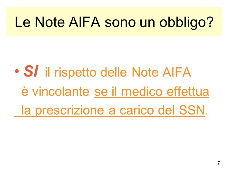 Le Note AIFA sono un obbligo