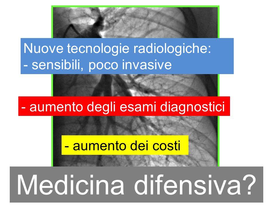 Medicina difensiva Nuove tecnologie radiologiche: