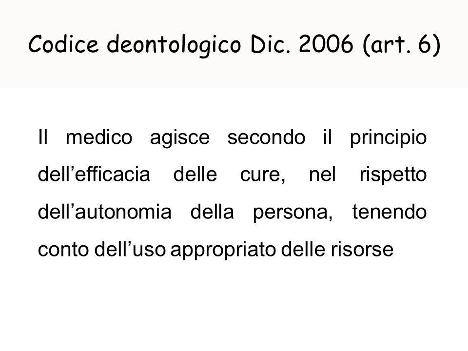 Codice deontologico Dic. 2006 (art. 6)
