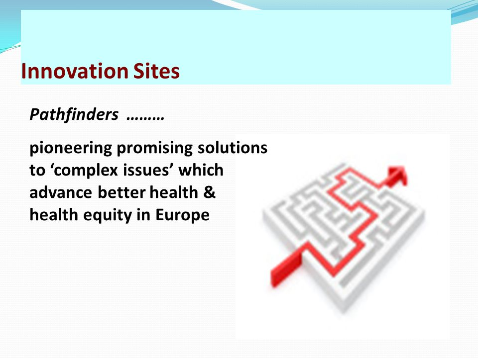 Innovation Sites Pathfinders ………