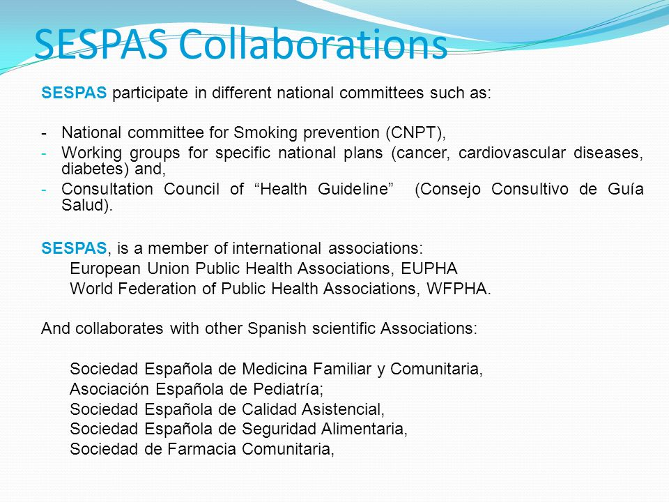 SESPAS Collaborations
