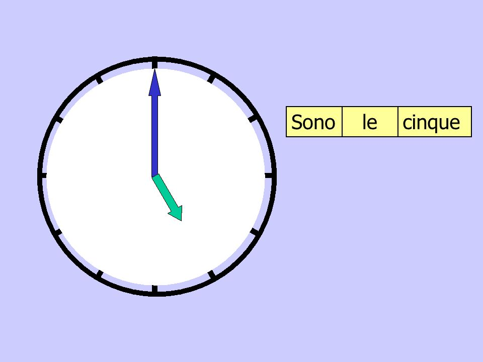 Sono le cinque
