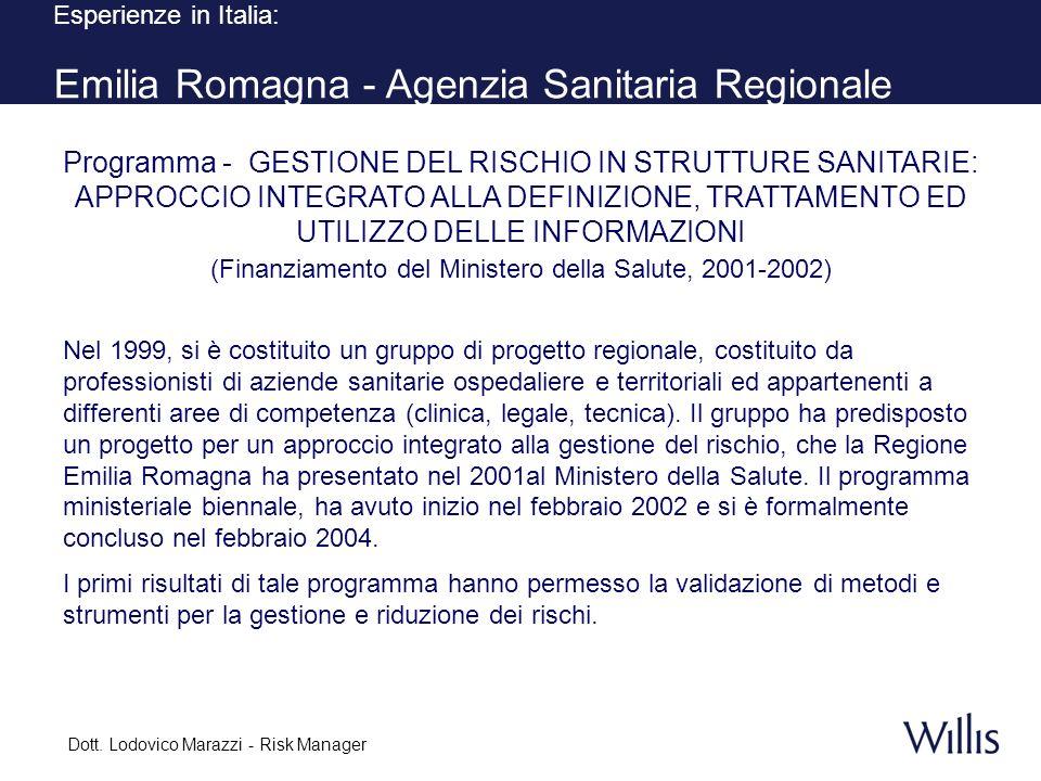 Esperienze in Italia: Emilia Romagna - Agenzia Sanitaria Regionale
