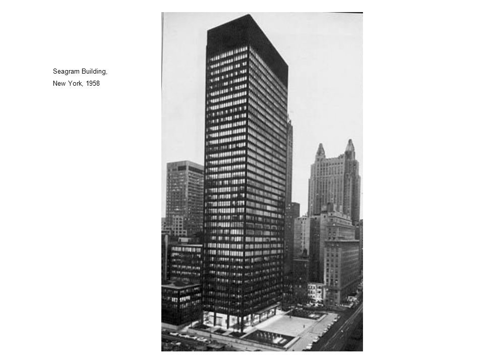 Seagram Building, New York, 1958 16 16