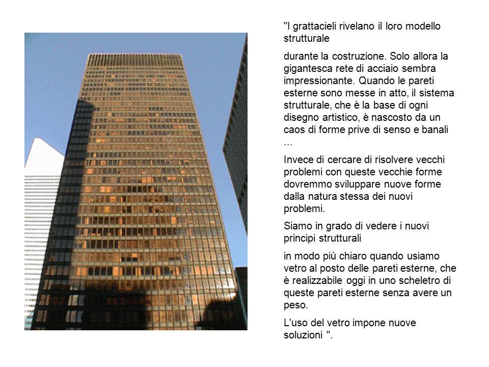 I grattacieli rivelano il loro modello strutturale