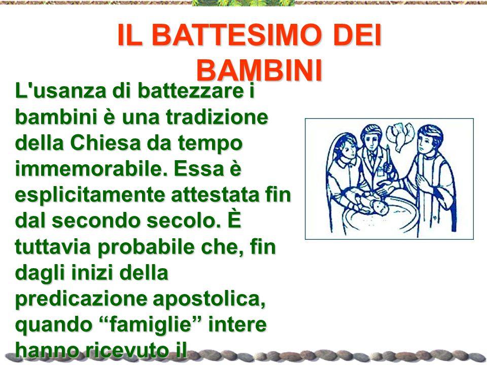 IL BATTESIMO DEI BAMBINI