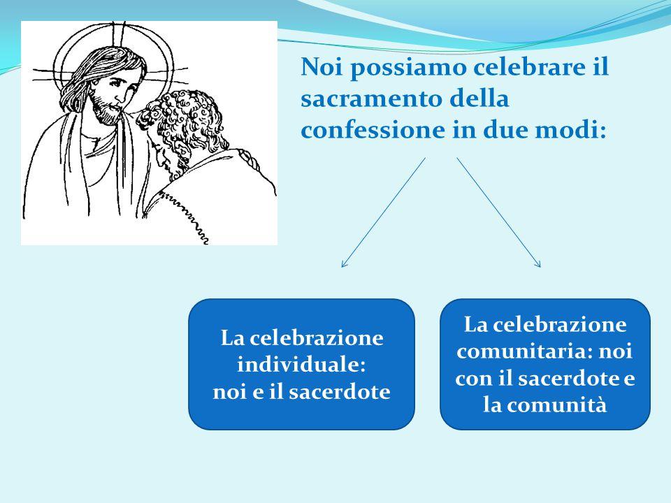 Noi possiamo celebrare il sacramento della confessione in due modi:
