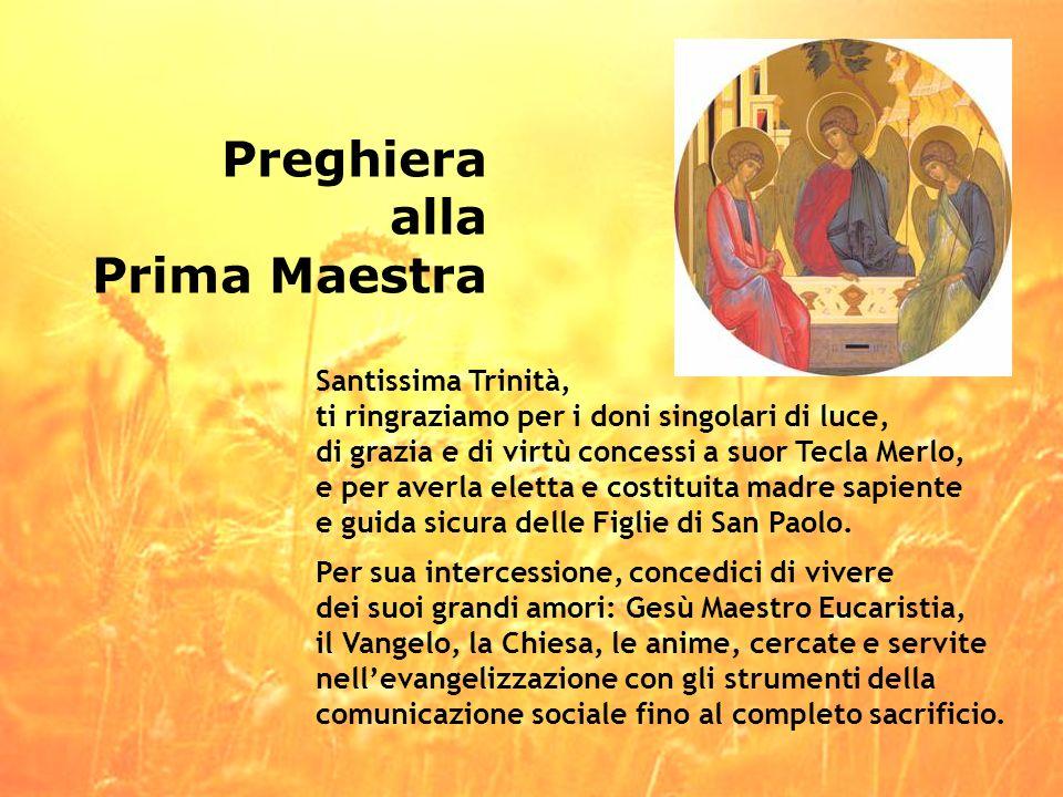 Preghiera alla Prima Maestra Santissima Trinità,