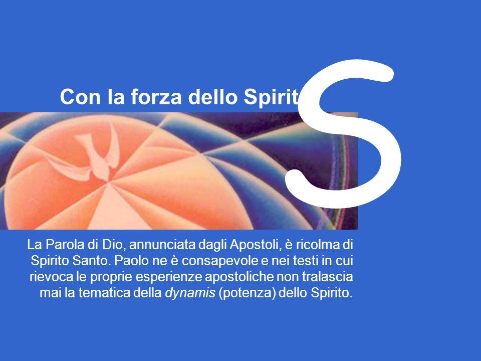 S Con la forza dello Spirito
