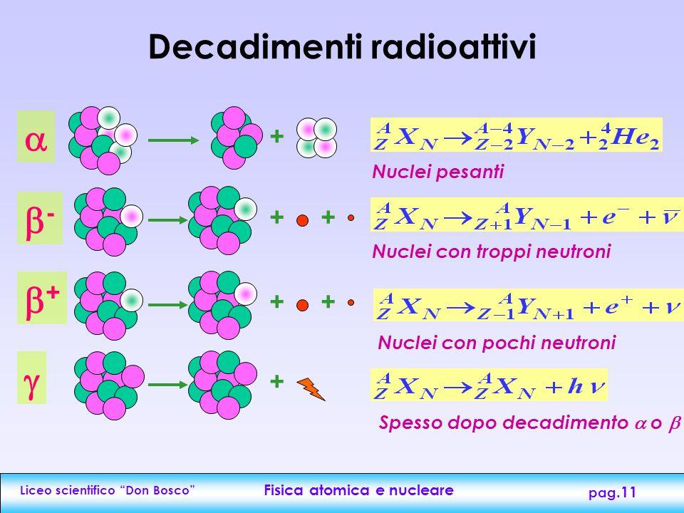Decadimenti radioattivi