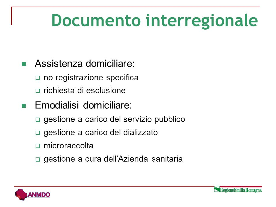 Documento interregionale
