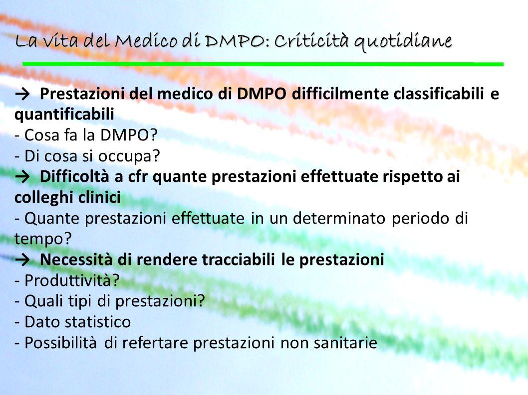La vita del Medico di DMPO: Criticità quotidiane