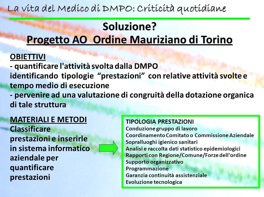 Progetto AO Ordine Mauriziano di Torino