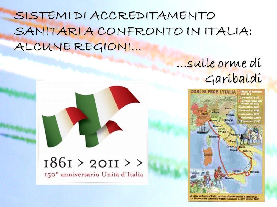 SISTEMI DI ACCREDITAMENTO SANITARI A CONFRONTO IN ITALIA: