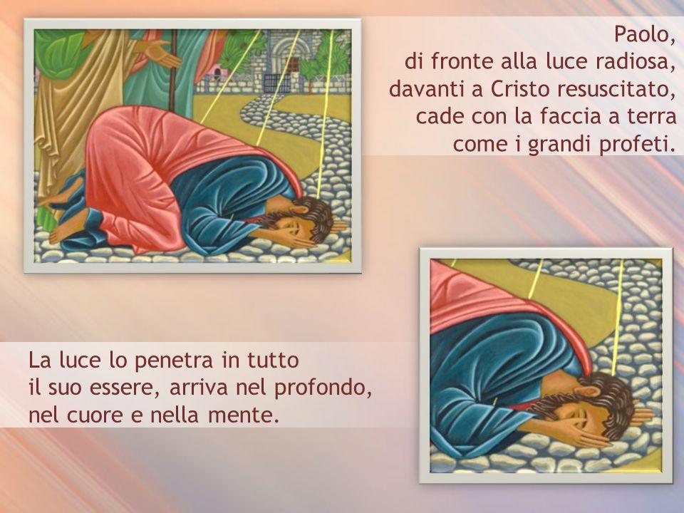di fronte alla luce radiosa, davanti a Cristo resuscitato,