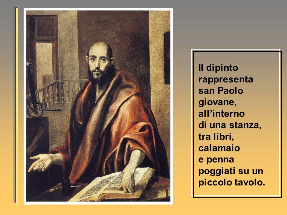 Il dipinto rappresenta san Paolo giovane,